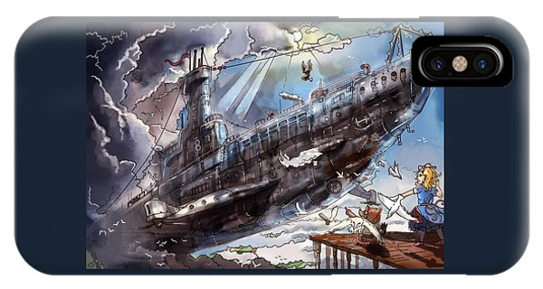 The Flying Submarine IPhone Case