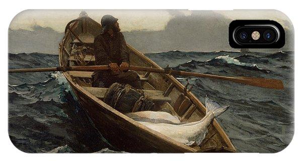 The Fog Warning .halibut Fishing IPhone Case