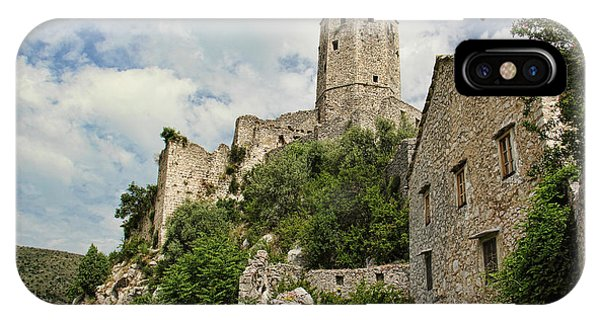 Mostar iPhone Case - The Fortress by Michelle Tinger