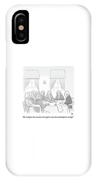 The Founding Fathers Drafting The Constitution IPhone Case
