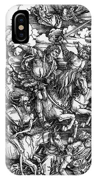 Horseman iPhone Case - The Four Horsemen Of The Apocalypse by Albrecht Durer