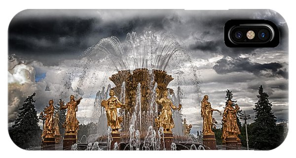 Achievement iPhone Case - The Friendship Fountain Moscow by Stelios Kleanthous