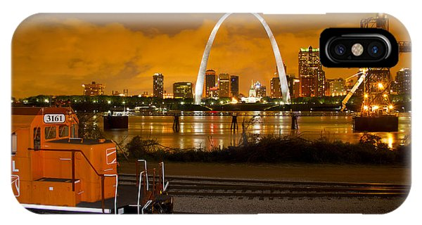 The Ftrl Railway With St Louis In The Background IPhone Case