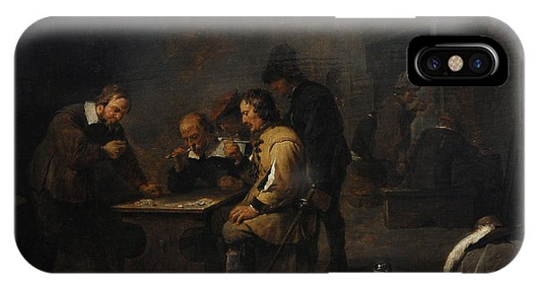 The Gamblers, C. 1640, By David Teniers The Younger 1610-1690 IPhone Case