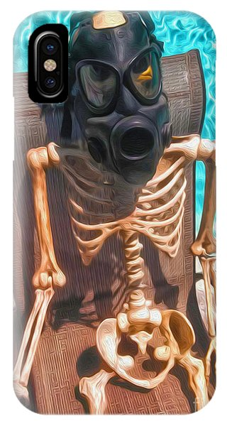 The Gas Mask Skeleton IPhone Case