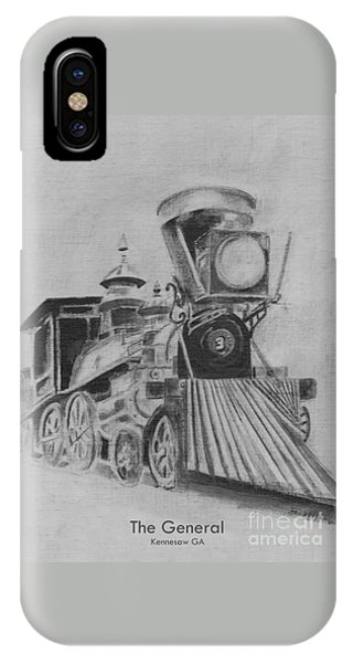 The General - Train - Big Shanty Kennesaw Ga IPhone Case