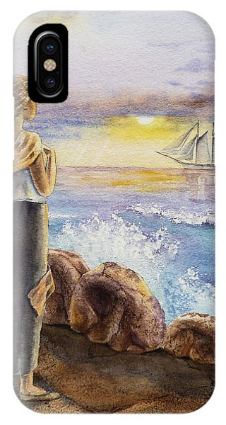 The Girl And The Ocean IPhone Case