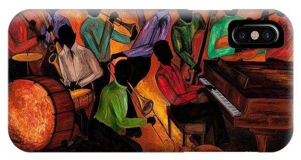 African American iPhone Case - The Gitdown Hoedown by Larry Martin