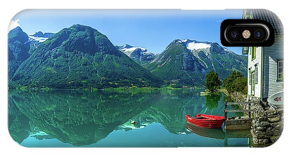Reflection iPhone Case - The Glacier Lake by Christer Olsen