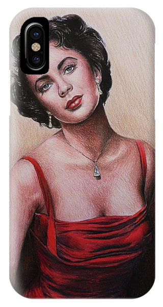The Glamour Days Elizabeth Taylor IPhone Case