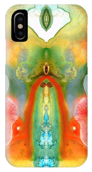 Abstract Figurative iPhone Case - The Goddess - Abstract Art By Sharon Cummings by Sharon Cummings