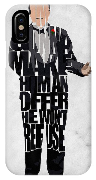 The Godfather Inspired Don Vito Corleone Typography Artwork IPhone Case