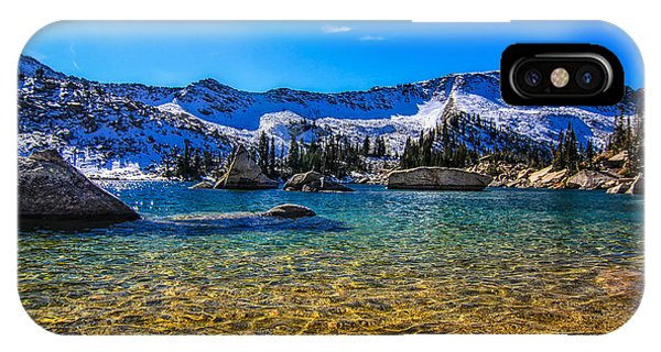 The Gold Lake Bottom Phone Case by Mitch Johanson