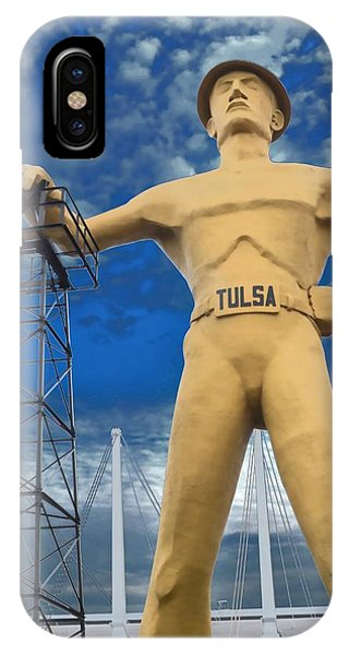 The Golden Driller - Tulsa Oklahoma IPhone Case