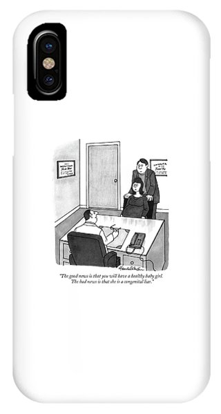 Hillary Clinton iPhone Case - The Good News Is That You Will Have A Healthy by J.B. Handelsman