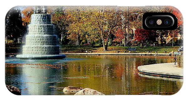 The Goodale Park  Fountain IPhone Case