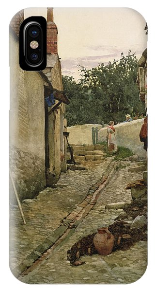 English Village iPhone Case - The Gossips by Walter Langley