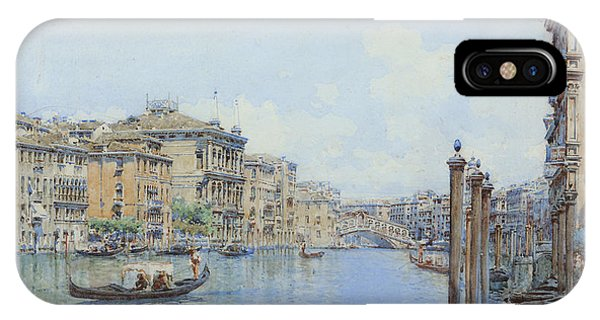 The Grand Canal With A View Of Palace IPhone Case