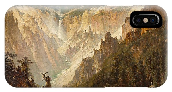 Grand Canyon iPhone Case - The Grand Canyon Of The Yellowstone by Thomas Hill