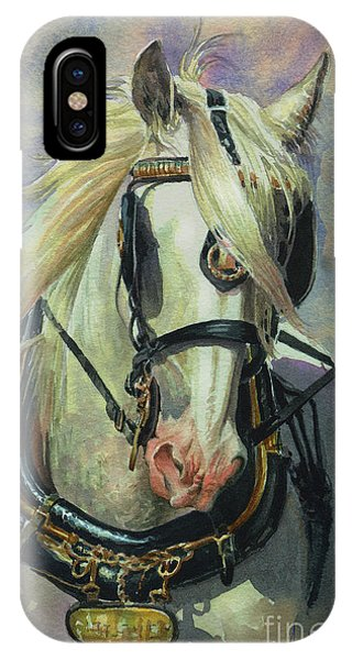 iPhone Case - The Gray Shire Horse by Anthony Forster