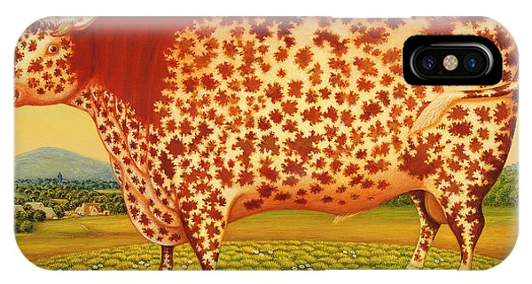 Mottled iPhone Case - The Great Bull by Frances Broomfield
