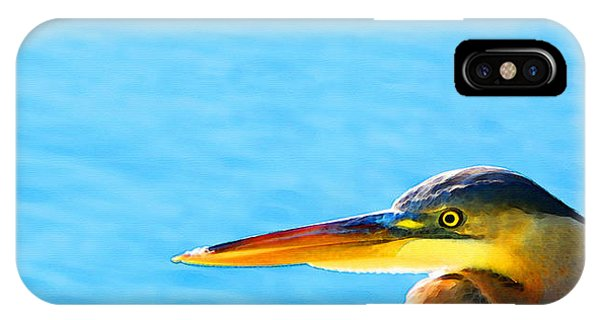 The Great One - Blue Heron By Sharon Cummings IPhone Case
