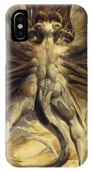 iPhone Case - The Great Red Dragon And The Woman Clothed In Sun by William Blake