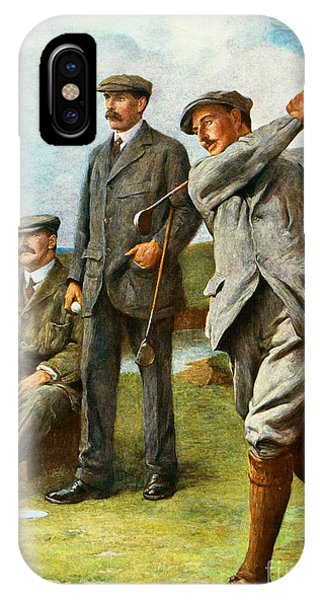 Golf iPhone Case - The Great Triumvirate by Clement Flower