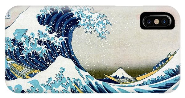 iPhone Case - The Great Wave Off Kanagawa by Library Of Congress/science Photo Library