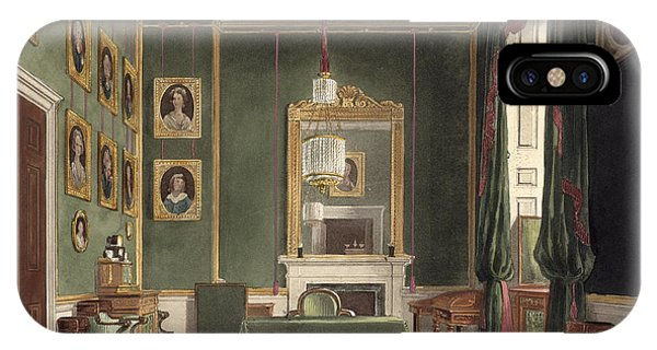 Interior iPhone Case - The Green Closet, Buckingham House by James Stephanoff