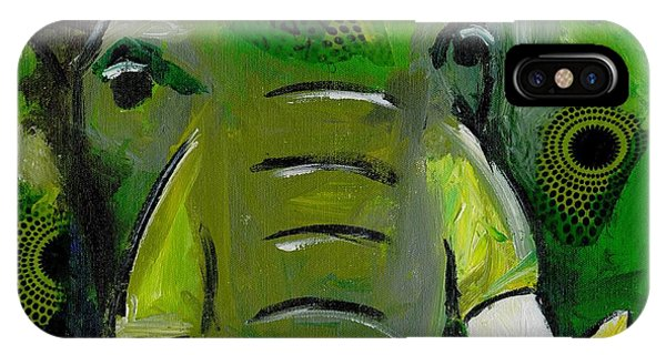The Green Elephant In The Room IPhone Case