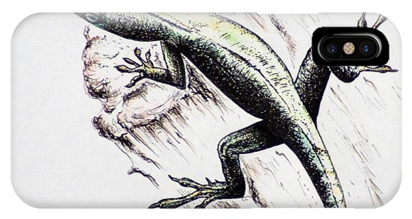 The Green Lizard IPhone Case