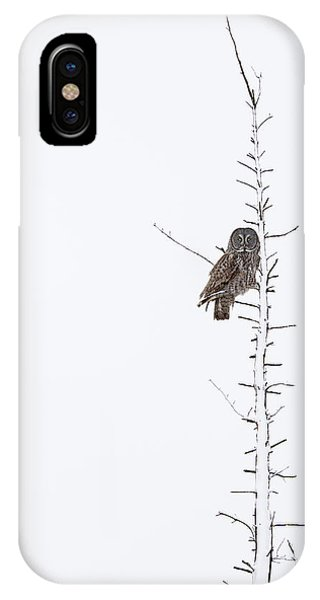 The Grey Hunter On White IPhone Case