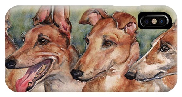 iPhone Case - The Greyhounds by Maria Reichert