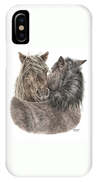 The Groom - Chincoteague Pony Print - Color Tinted IPhone Case