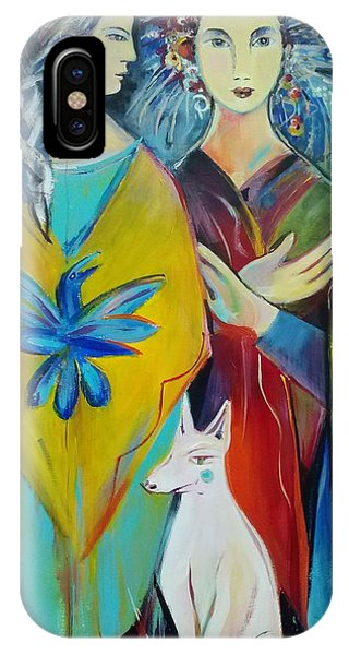 The Guardian Phone Case by Marlene LAbbe