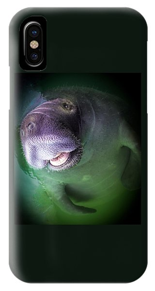 The Happy Manatee IPhone Case