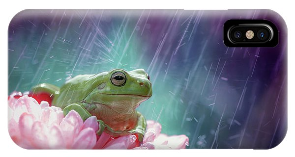 Wet iPhone Case - The Happy Rain by Ahmad Baihaki
