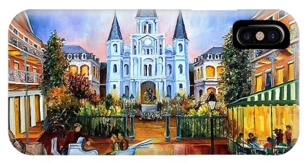 French Artist iPhone Case - The Hours On Jackson Square by Diane Millsap