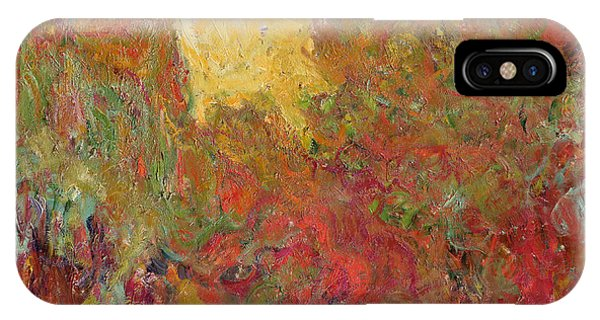 French Impressionism iPhone Case - The House Seen From The Rose Garden by Claude Monet