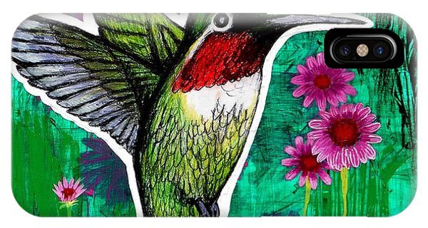 Humming Bird iPhone Case - The Hummingbird by Genevieve Esson