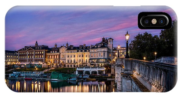The Iconic Richmond By The River Phone Case by Leigh Cousins