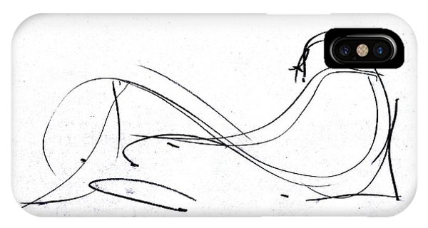 IPhone Case featuring the drawing The Idea Relax by John Jr Gholson