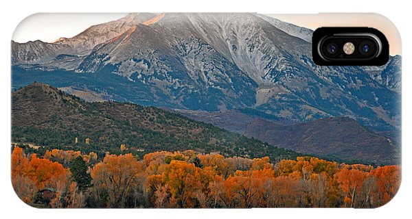 The Impressive Mount Sopris   IPhone Case