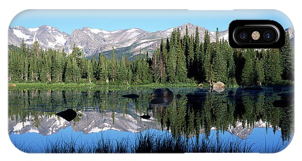 Indian Peaks Wilderness iPhone Case - The Indian Peaks Reflected In Red Rock by Panoramic Images