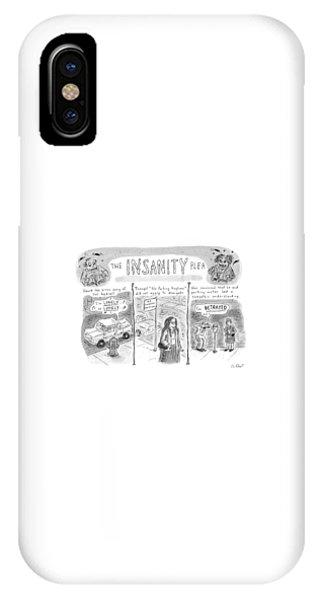 The Insanity Plea IPhone Case