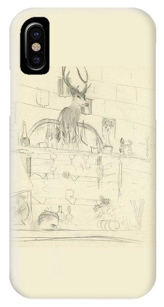 Shelves iPhone Case - The Interior Of A Bar by Carl Oscar August Erickson