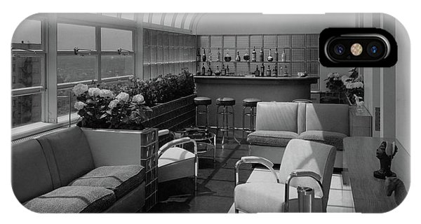 The Interior Of A Rooftop Terrace IPhone Case