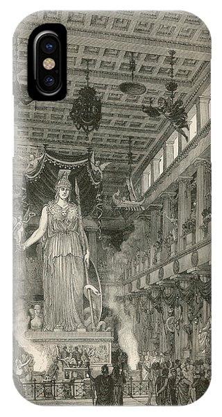 The Interior Of The Parthenon,  Or Phone Case by Mary Evans Picture Library