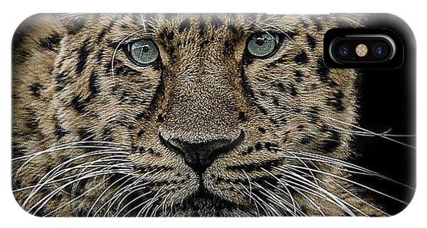 Leopard iPhone Case - The Interrogator  by Paul Neville